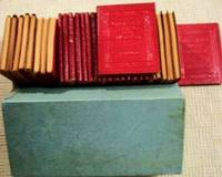 Little Luxart Library 30 Volume Set w/ Original Box  ( Little Leather Library Red Luxart Edition )