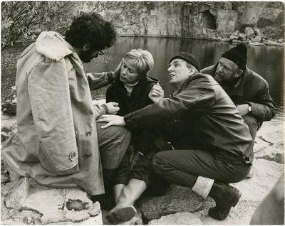 Stockholm: Svensk Filmindustri , 1970. Vintage black-and-white borderless double weight Swedish pres...