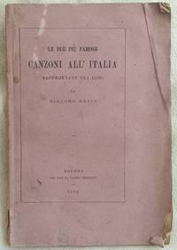 LE DUE PIU FAMOSE CANZONI ALL'ITALIA  RAFFRONTATE TRA LORO