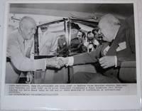 Press Photograph of Winston Churchill and President Dwight Eisenhower