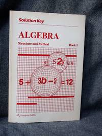 Algebra Structure and Method Book 1 Solution Key