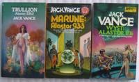 "Alastor trilogy:  vol one - Trullion:  Alastor 2262; vol two  - Marune:  Alastor 933; vol 3 - Wyst:  Alastor 1716  - All 3 books of the ""ALASTOR TRILOGY"""