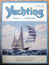 """Honolulu """"Ti Leaf Slide."""" Article in Yachting. Sail and Power. September, 1955"""