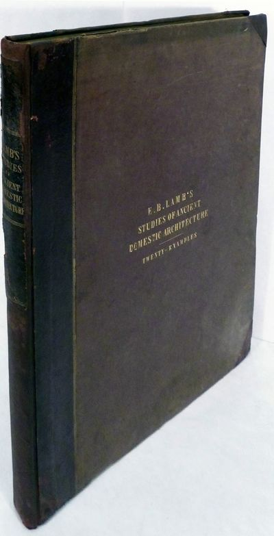 London: John Weale, 1846. First edition. Hardcover. Orig. half brown cloth and brown morocco rebacke...