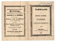 [Materials relating to the facsimile reprint of Poe's Tamerlane] by (Poe, Edgar Allan); Schwartz, Jacob - 1931