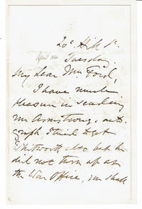 image of AUTOGRAPH LETTER TO MRS. MARY FORD OF PENCARROW SIGNED BY BRITISH ARMY OFFICER EDWARD HARRIS GREATHED.