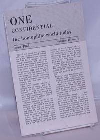 image of One Confidential: the homophile world today vol. 9, #4, April, 1964