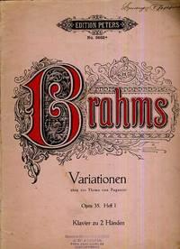 VARIATIONEN Uber Ein Thema Non Pagannini JOHANNES Brahms Opus 35 Heft I