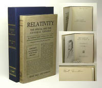 RELATIVITY. The Special And The General Theory. Signed by Einstein, Albert - 1920