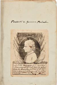 A.J.H. Malartic, G.al en Chef, Gouverneur G.al des Isles de France et de la Reunion et C.Dant G.al des Eta. Ent Francais a l'Est Cap Bo.ne Esp.ce. Né a Montaubaun le 3 J.let 1730. Mort a l'Isle de France le 9 T.dor An 8e