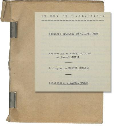 Neuilly-sur-Seine, France: Societe Nouvelle de Cinematographie , 1970. Draft script for the 1970 fil...
