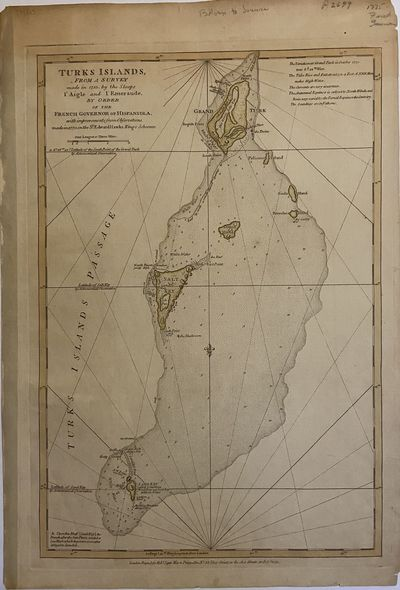London: Robert Sayer, 1775. unbound. Sea Chart. Engraving with original hand coloring. Measures 19 1...