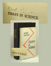 Essays In Science Signed By Einstein Albert
