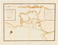 Plan du Port Louis. Dans L'Ile de France, situé par les 20 degrés 5 minutes de latitude sud et par 73 degrés de longitude de ténérif. Géometriquement levé sur les lieux. en 1721. Par le Chevalier Garnier de Fougerai [manuscript title]