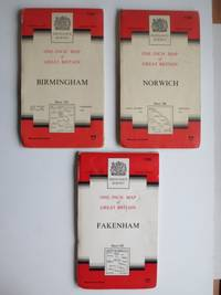 image of Ordnance survey maps, 1 inch to 1 mile on cloth. Sheet nos. 125, 126 & 131  [Fakenham, Norwich, Birmingham]