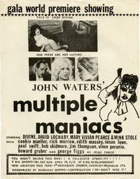 Multiple Maniacs (Original flyer for the Baltimore premiere of the 1970 film)