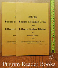 image of Rôle des Soeurs de Sainte Croix dans l'Oeuvre Scolaire Bilingue de  Pembroke, Ontario. (2 copies).