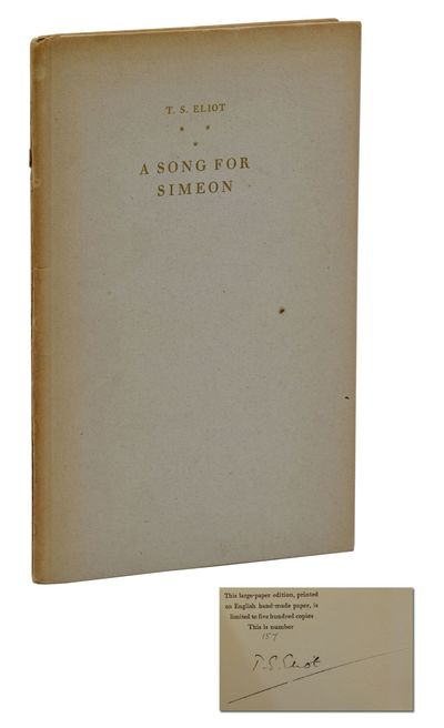 London: Faber and Faber, 1928. First Edition. Good. First large paper edition. Signed limited editio...