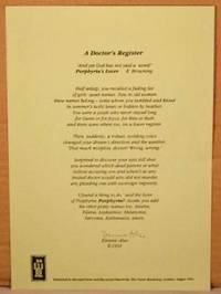 image of A Doctor's Register. BROADSIDE 8.2x11.8 inches.