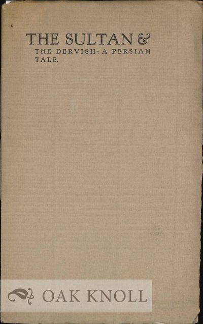 Amherst, MA: The Snail's Pace Press, 1925. stiff paper wrappers, top edge cut, other edges uncut. Sn...
