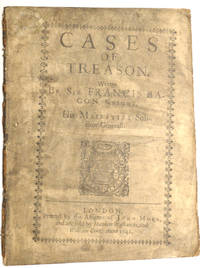 Cases of Treason by Sir Francis Bacon - 1st Edition - 1641 - from E C Books (SKU: 031657)