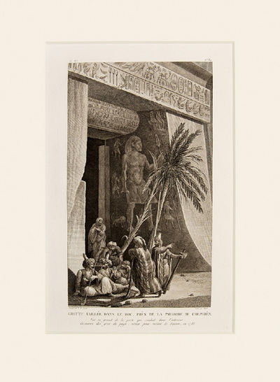 Grotte taill e dans lerco prec de la pyramide de chephren for Interieur pyramide