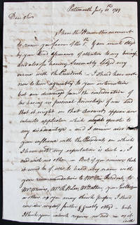 Autograph Letter Signed Portsmouth, July 10, 1789 to John Langdon, New York City