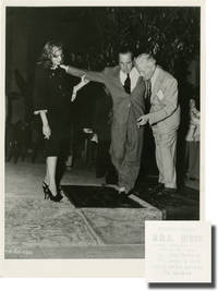 Original photograph of Humphrey Bogart and Lauren Bacall at Grauman's Chinese Theatre, 1946