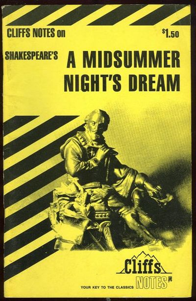 CLIFFS NOTES ON SHAKESPEARE'S A MIDSUMMER NIGHT'S DREAM, Roberts, James editor