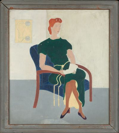 A figurative painting of Rexroth's second wife, Marie (Kass) Rexroth. Rexroth's notes indicate the d...