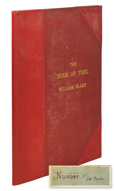 Slim 4to. Edmonton: William Muir, 1920. Slim 4to, 8 unnumbered hand-colored plates. Half red calf, u...