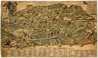 THE 1665 ROME PLAN OF LIEVIN CRUYL IN CONTEMPORARY COLOR RIVAL OF FALDA  Pianta di Roma come si trova al presente colle alzate delle fabriche piu nobili cosi antiche come moderne.