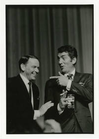 image of Original double weight photograph of Frank Sinatra and Dean Martin, circa 1960s