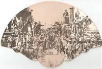 SOUVENIR FAN FROM HISTORICAL SONS OF UTAH PIONEERS RAILROAD VILLAGE MUSEUM,  CORRINE, UTAH:; 7 Miles West of Brigham City, Utah - On the Road to Promontory Summit..