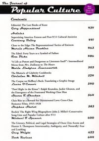 The Journal of Popular Culture: Volume 43, Number 3, June 2010