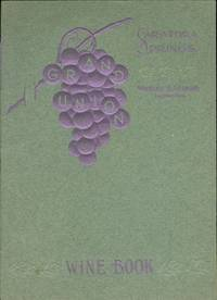 A wine collector's extensive archive, the meticulous records of Douglas H. Thomas (1847-1919; President of Merchants' National Bank, Baltimore, Maryland), including wine catalogues and invoices, Thomas's correspondence with wine importers, restaurant menus, and other material gathered by Thomas, 1897-1906