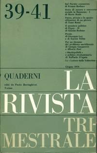 Quaderni della Rivista Trimestrale. N. 39-41, Giugno 1974