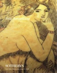 Fine Americana, New York, June 17, 1998 (Sale 7152)