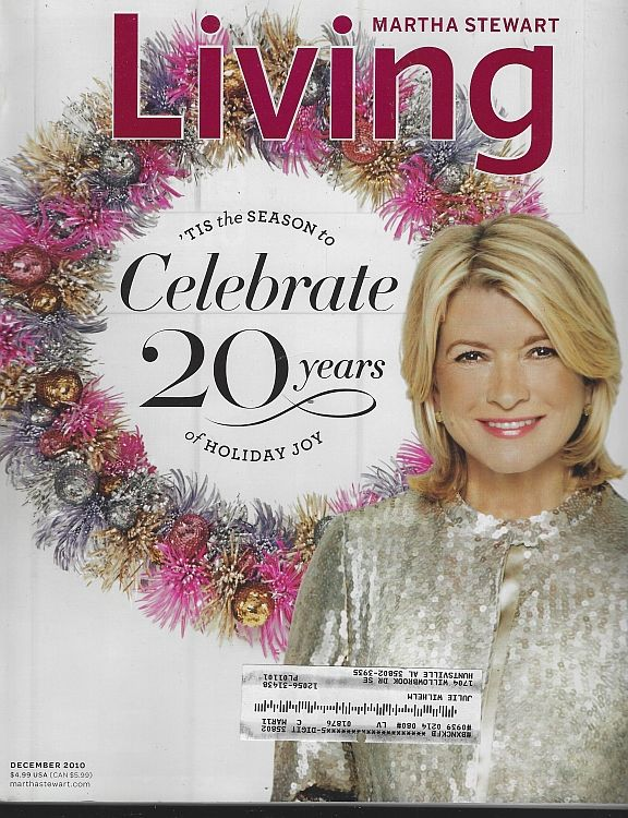 Image for MARTHA STEWART LIVING MAGAZINE DECEMBER 2010