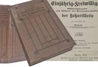 Weigelts Handbuch Einjahrig Freiwilligen Offizieraspiranten und Offiziere des Beurlaubtenstandes der fussartillerie