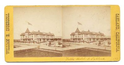 Oakland, California: William B. Ingersoll, (n. d.). Ca 1874. Now housed in an archival mylar sleeve....