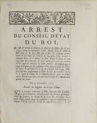 Arrest du Conseil d'Etat du Roy, qui casse & annulle la Sentence du...