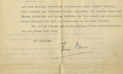 16/04/1936. Thomas Mann An incredibly rare and unpublished letter relating to his perhaps his most f...