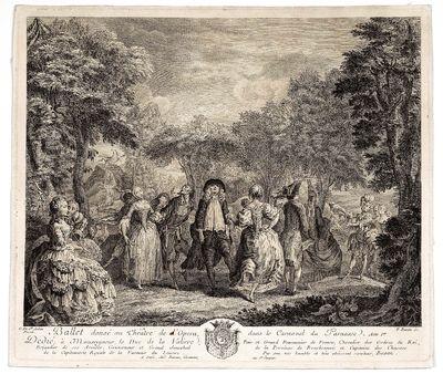 Ballet dansé au Théatre de l'Opera, dans le Carnaval du Parnasse. Acte Ier. Dedié, è Monseigneur...