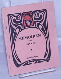 image of Memoiren: Erlebtes, Erforschtes und Erdachtes.  Erster Band