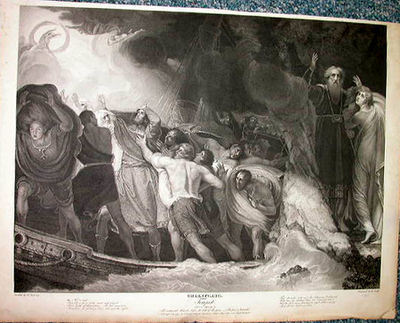 Shakespeare/Boydell. Tempest. I.1. After a painting by Romney, engraved by Smith. Engraving on paper...