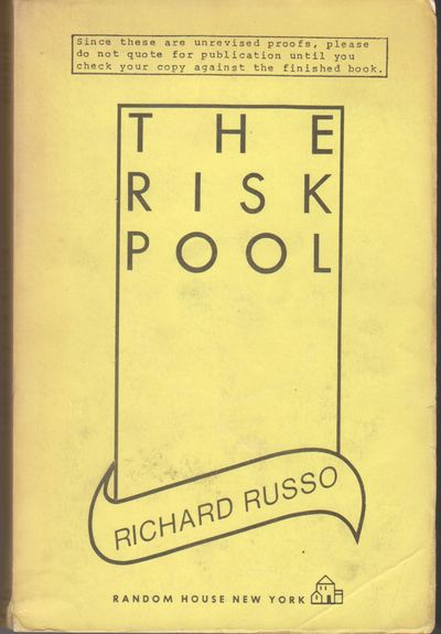 New York: Random House. 1988. First Edition; First Printing. Softcover. Wraps, advance uncorrected p...