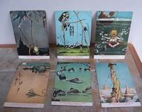 THE GENTLE ART OF CATCHING THINGS.  SET OF 6 POSTCARDS.
