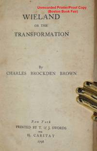 Wieland, or, the Transformation; an American Tale [printer