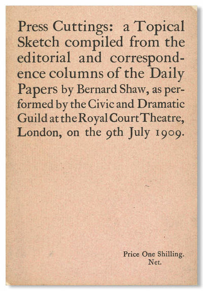 London: Archibald Constable & Co., 1909. Small octavo. Printed wrapper. Tiny nick from upper forecor...
